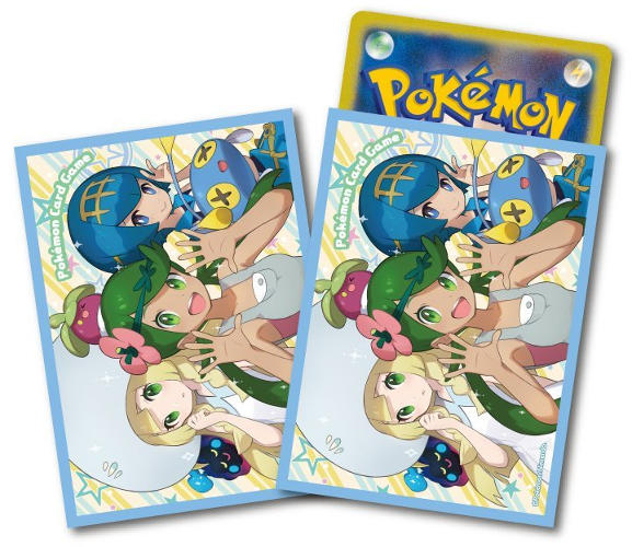 Japanese Pokemon Sun & Moon Lillie Lana & Mallow Sleeves - 64ct
