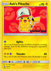 Ash's Pikachu SM109 Non-Holo Promo - Pokemon The Movie