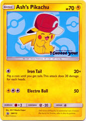 Ash's Pikachu SM113 Non-Holo Promo - Pokemon The Movie