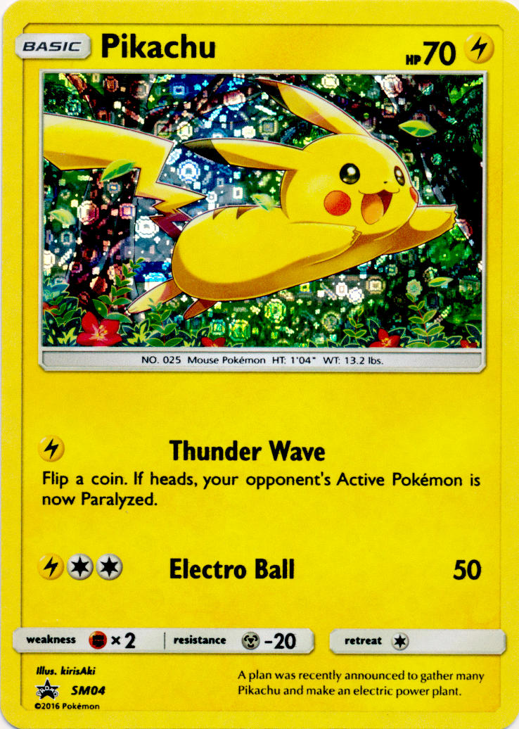 SM04 Pikachu Promo NM Promo Pokemon