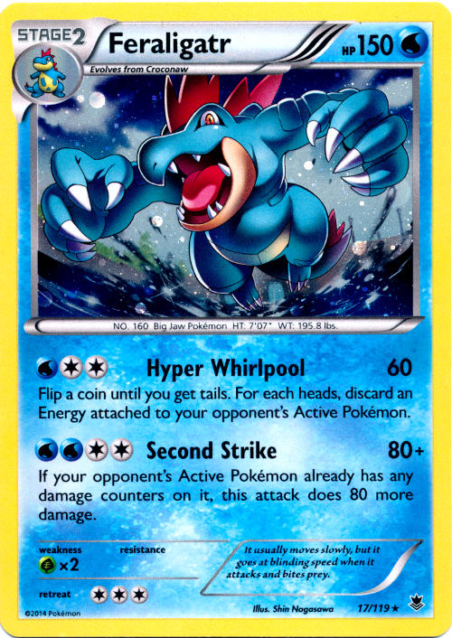 Feraligatr 17/119 Cosmos Holo Promo - Sun & Moon Blister Packs