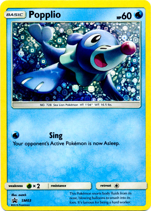 Popplio SM03 Sequin Holo Promo - General Mills Cereal Packs
