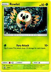 Rowlet SM01 Sequin Holo Promo - General Mills Cereal Packs