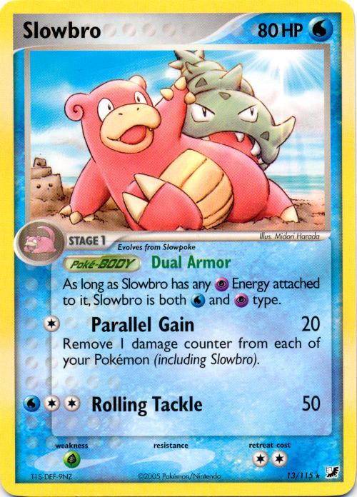 Slowbro and Slowpoke 1st Edition NM-Mint Fossil Set Non-Holo Pokemon Cards