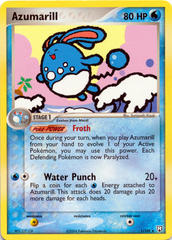 Azumarill 1/109 Non-Holo Promo - James Theme Deck