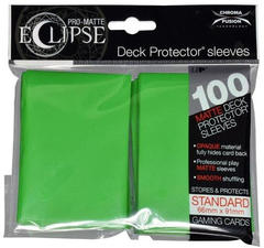 Ultra Pro Standard Size PRO-Matte Eclipse Sleeves - Lime Green - 100ct