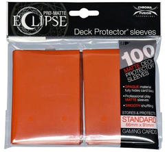 Ultra Pro Standard Size Orange PRO-Matte Eclipse Sleeves - 100ct