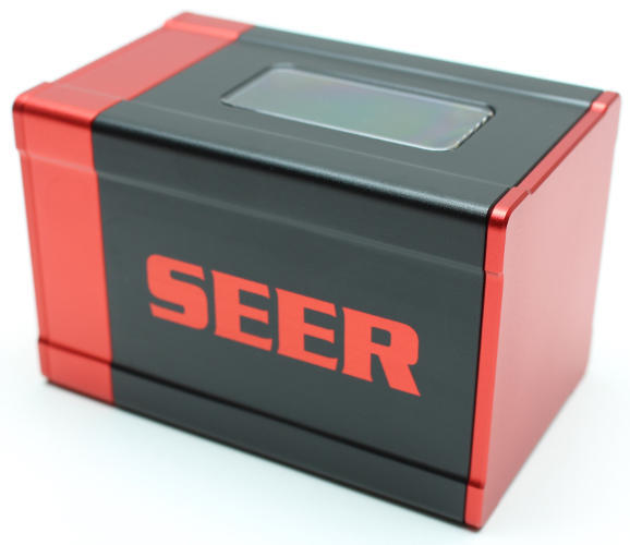 METAL RED and BLACK CLASSIC LIMITED EDITION STYLE SEER DECK BOX CARD PROTECTOR