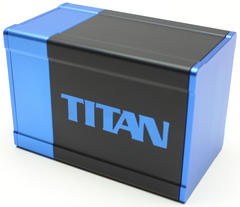 Boxgods Titan Black & Blue Deck Box