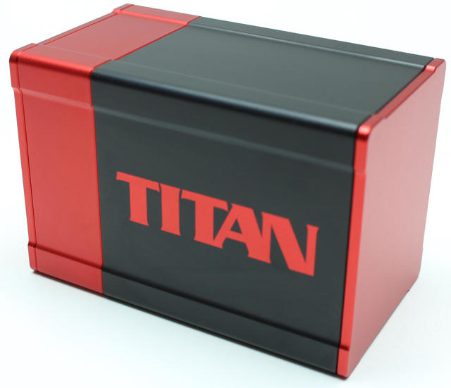 Boxgods Titan Black & Red Deck Box