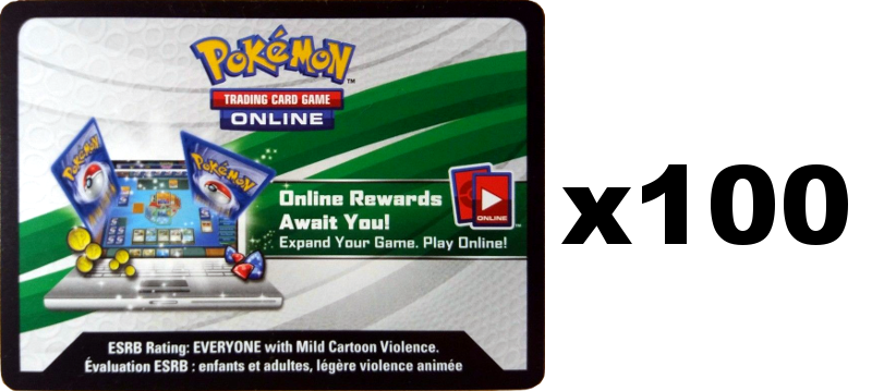 Pokemon SM6 Forbidden Light TCG Online Code Card x100