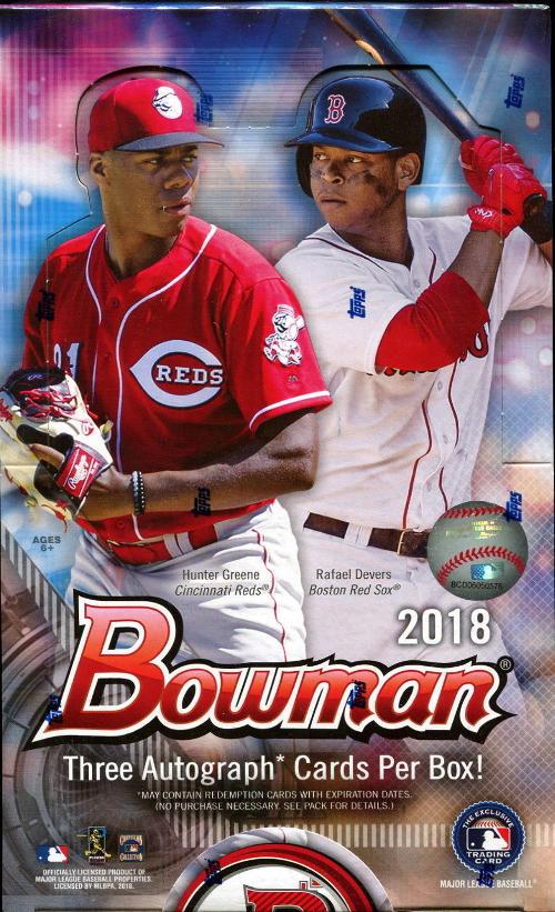 2018 Bowman Mlb Baseball Jumbo Hobby Box Sports Cards Trading