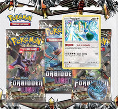 Pokemon Sun & Moon SM6 Forbidden Light 3-Booster Blister Pack - Regigigas Promo