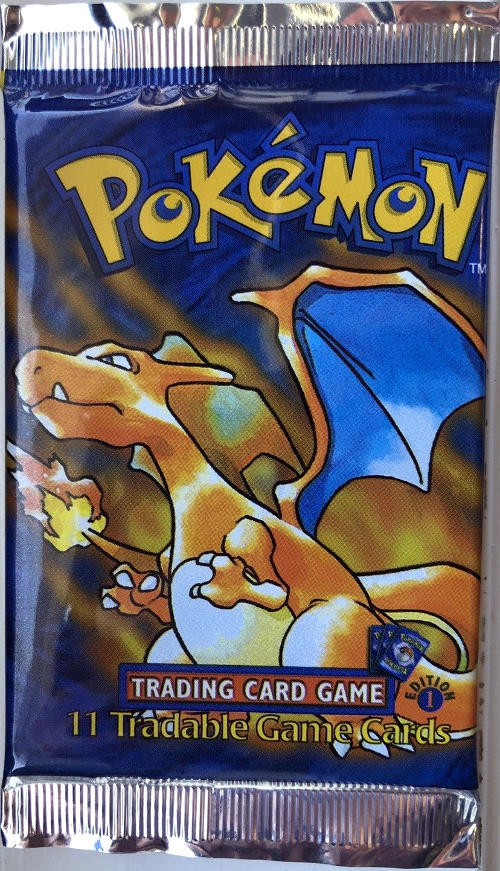 Pokemon Base Set 1st Edition Booster Pack - Charizard