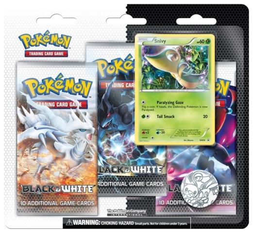 Pokemon Black & White 3-Booster Blister Pack - Snivy Promo