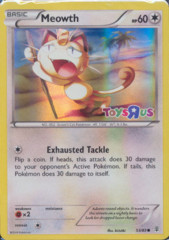 Meowth 53/83 Sheen Holo Promo - Toys R Us Pokemon Day Exclusive Promo