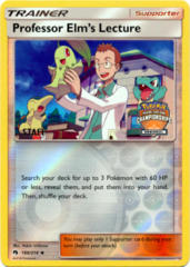 Professor Elms Lecture 188/214 Reverse Holo STAFF Stamp Promo - 2018 Regional Championships