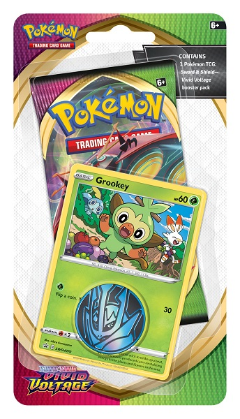 Pokemon SWSH4 Vivid Voltage Checklane Blister Pack - Grookey