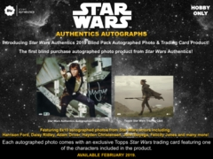 Topps 2019 Star Wars Authentics Blind Purchase Hobby Box