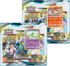 Pokemon Sun & Moon SM12 Cosmic Eclipse Blister Packs: Set of 2
