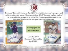 2019 Bowman MLB Baseball Hobby Box