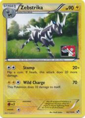 Zebstrika 42/114 Crosshatch Holo Promo - 2012 Pokemon League