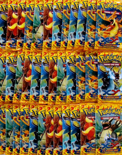 Pokemon XY Flashfire 36ct Booster Pack Lot