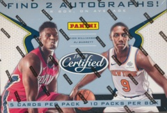 2019-20 Panini Certified NBA Basketball Hobby Box
