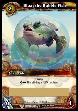 Bloat the Bubble Fish Loot Card