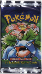 Pokemon Base Set Shadowless Booster Pack - Venusaur Artwork