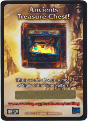 War of the Ancients Treasure Chest Loot Card