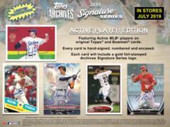 2019 Topps Archives Signature Series MLB Baseball Hobby Box ACTIVE PLAYER EDITION