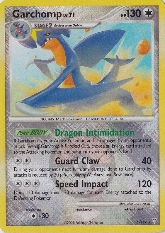 Garchomp 5/147 Crosshatch Holo Promo - 2010 National Championships