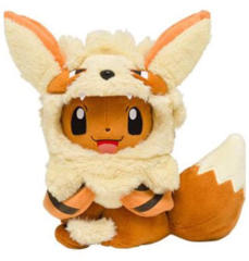 Japanese Pokemon Center Eevee in Arcanine Costume (Open Mouth) - Okinawa Exclusive!