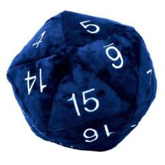 Ultra Pro Jumbo D20 Plush Die Blue with Silver Numbers