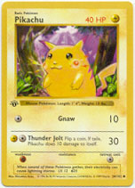 Pikachu - 58/102 - Common - 1st Edition (Red Cheeks)