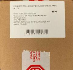 Pokemon SWSH7 Evolving Skies 3-Pack Blister CASE - 24ct
