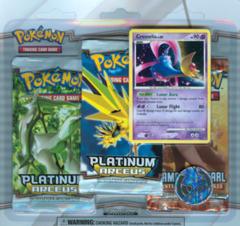 Pokemon Platinum Arceus 3-Booster Blister Pack - Cresselia Promo