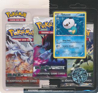 Pokemon Black & White 3-Booster Blister Pack - Oshawott Promo