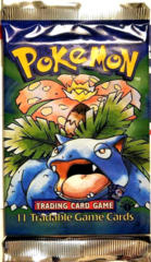 Pokemon Base Set 1st Edition Booster Pack - Venusaur Artwork