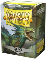 Dragon Shield Matte Standard-Size Sleeves - Olive - 100ct