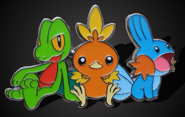 Pokemon Mudkip//Treecko//Torchic Collector GOLD COIN NEW