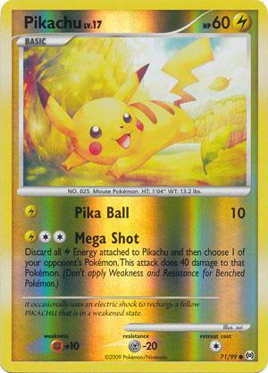 Pikachu 71 99 Common Reverse Holo Pokemon Card