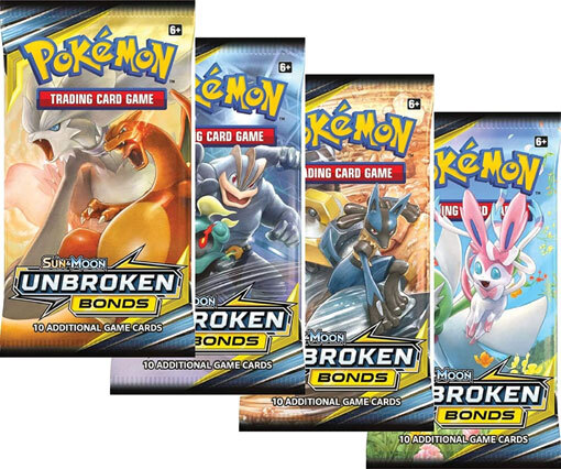 Pokemon SM10 Unbroken Bonds 36ct Booster Pack Lot