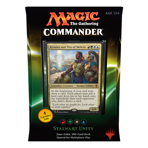 2016 Commander Series: Red/Green/White/Blue RGWU Deck Stalwart Unity