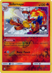 Infernape 23/156 Reverse Holo League Stamp Promo - 2018 Pokemon League