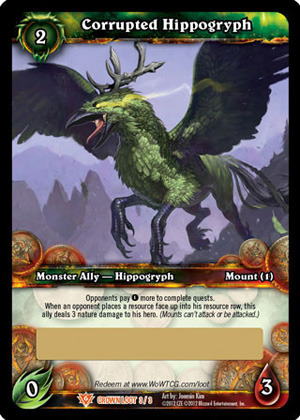 Corrupted Hippogryph Loot Card