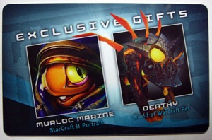2010 Blizzcon World of Warcraft Anaheim Exclusive Deathy Pet Loot Code Card