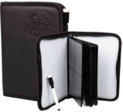 Monster Protectors Deluxe Zipperbound 4 Pocket Binder with White Boards and Marker