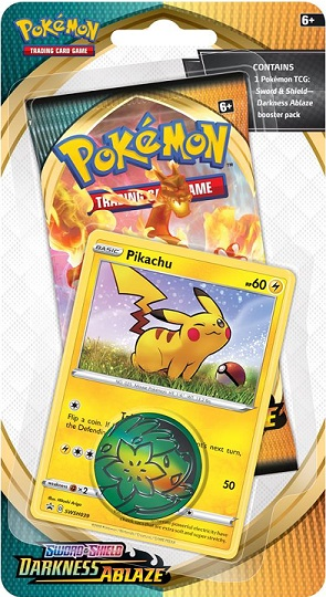 Pokemon SWSH3 Darkness Ablaze Checklane Blister Pack - Pikachu